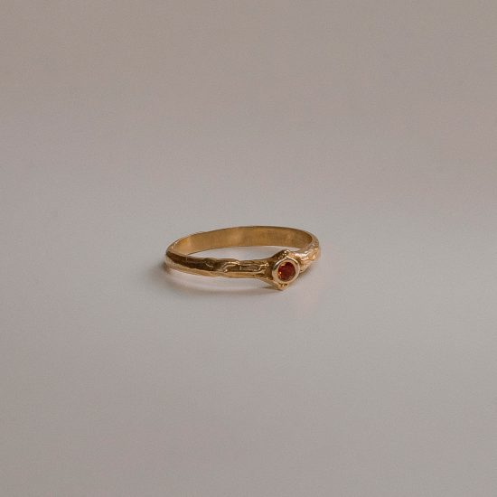 Кольцо «Rim» с позолотой