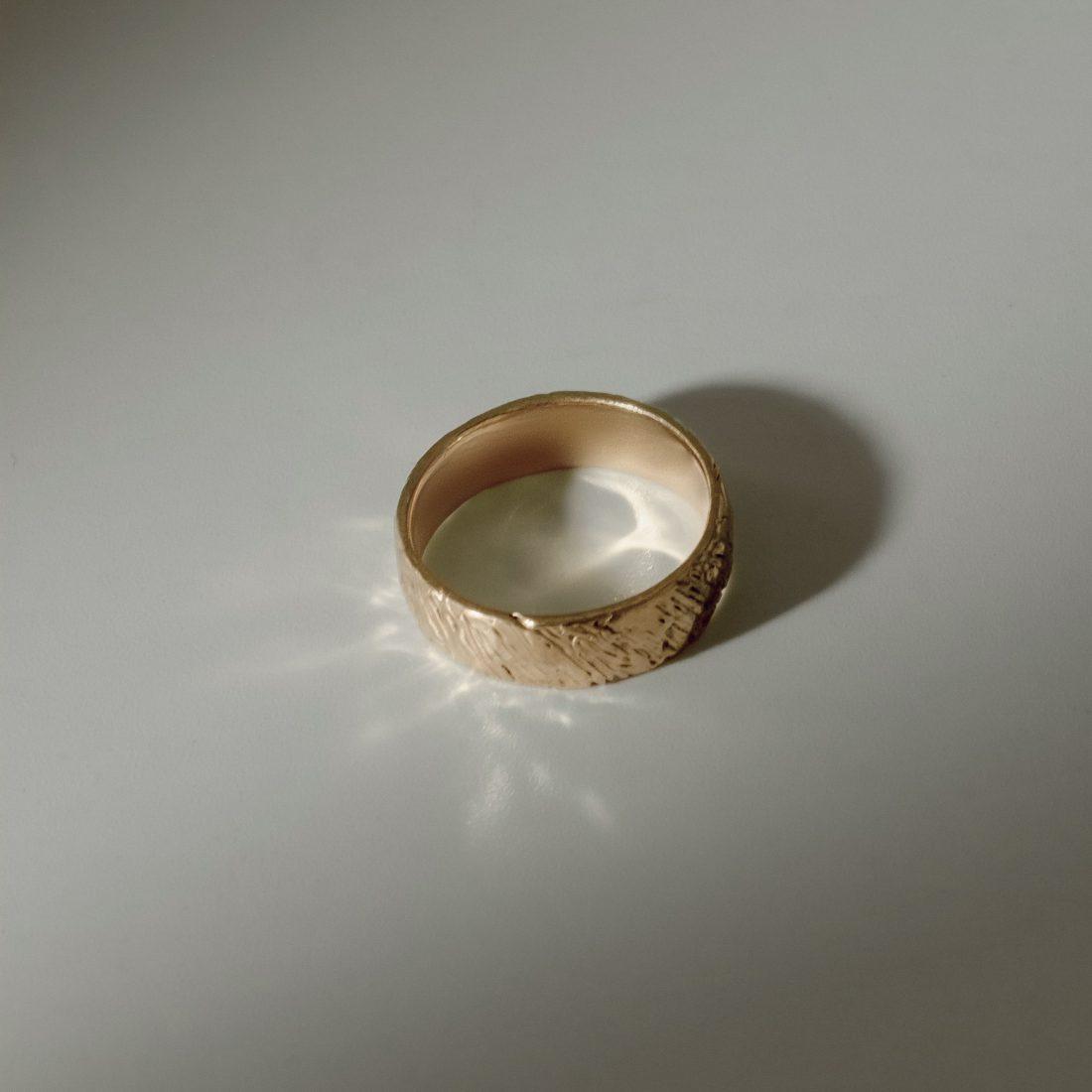 Кольцо «Кора» с четырмя камнями, позолота 3