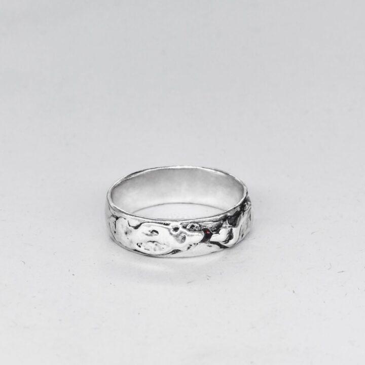 """Кольцо мужское """"Волна"""", серебро"""