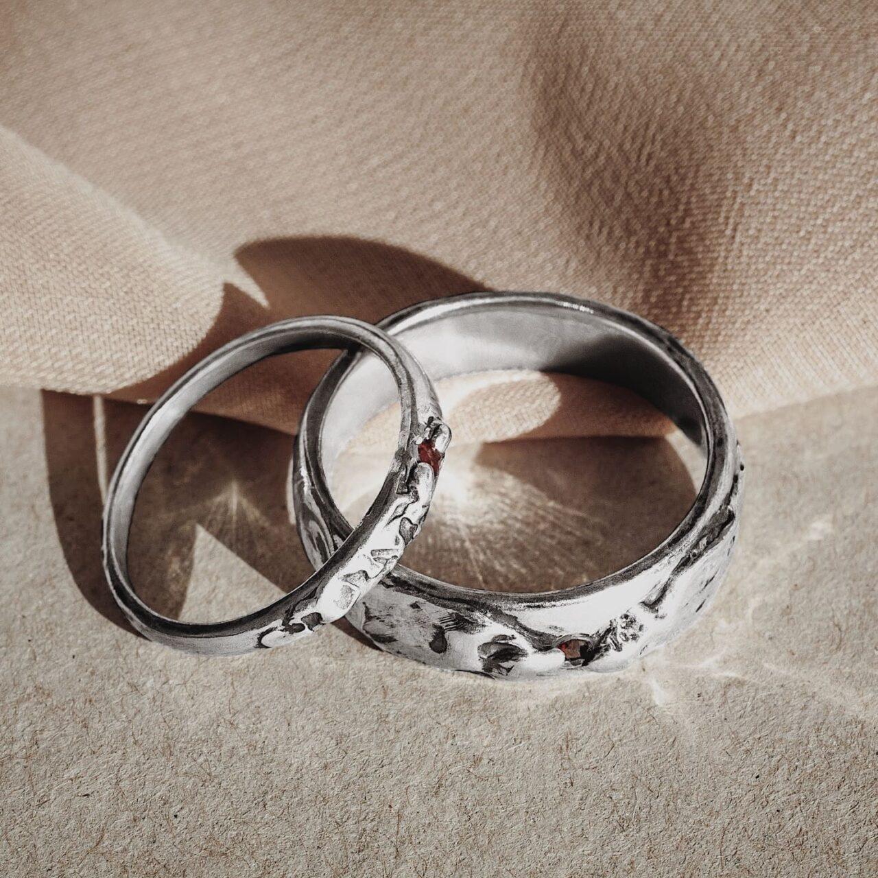 """Обручальные кольца """"Волна"""", серебро"""