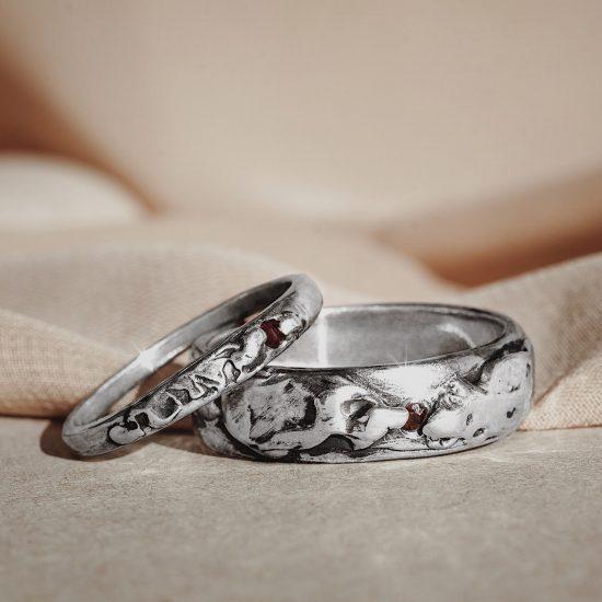 Обручальные кольца «Волна»