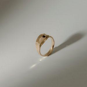 Кольцо «Mole» с позолотой