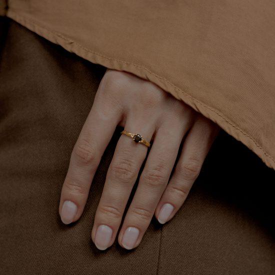 Кольцо «Classic» с позолотой