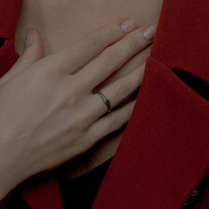 Черное кольцо «Rim»