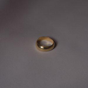 Кольцо «BEND» с позолотой