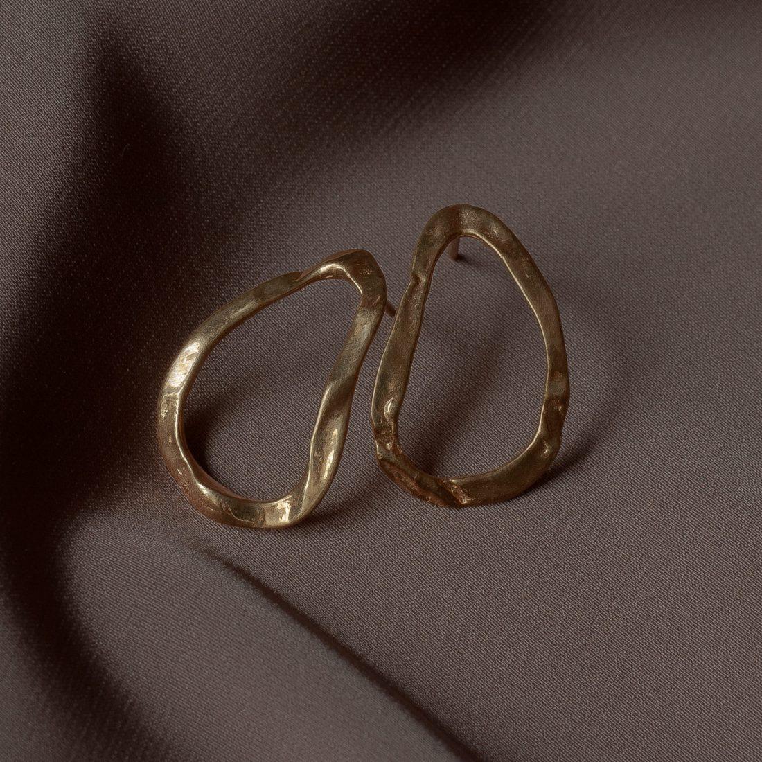 Золотые серьги «Инжир»
