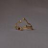 Золотое кольцо «Веточка»